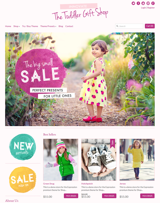 expression kids shopify themes