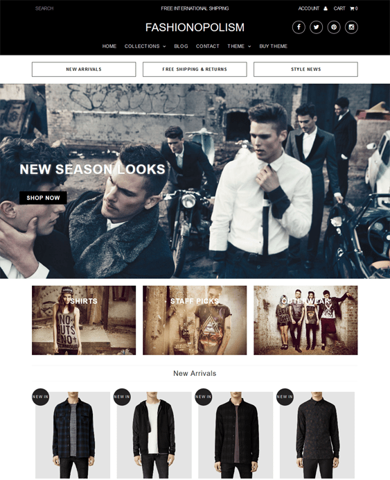fashionopolism apparel clothing shopify themes