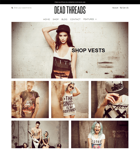 vantage apparel clothing shopify themes