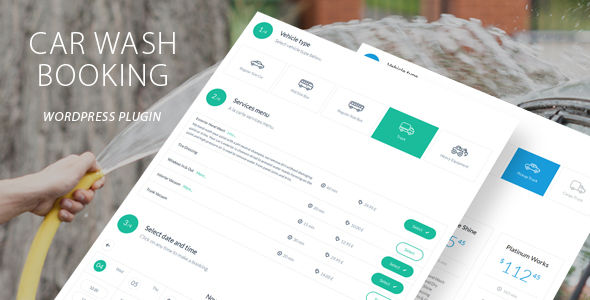 Car Wash Booking System For WordPress by QuanticaLabs (pricing table plugin)