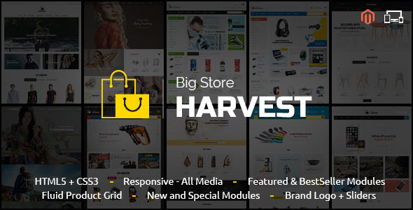 Harvest by TemplateMela (Magento theme)