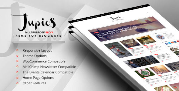 Jupios by GloriaTheme (video blog WordPress theme)
