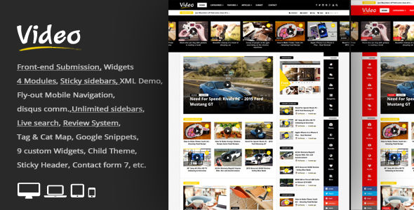 Video News by An-Themes (video blog WordPress theme)