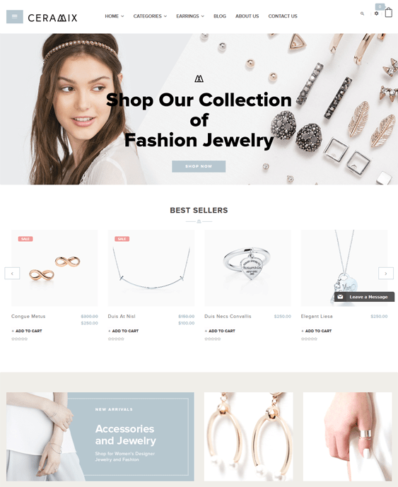 ceramix jewelry shopify themes