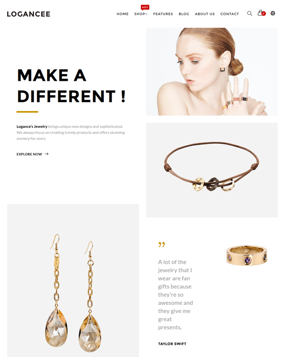 logancee jewelry shopify themes