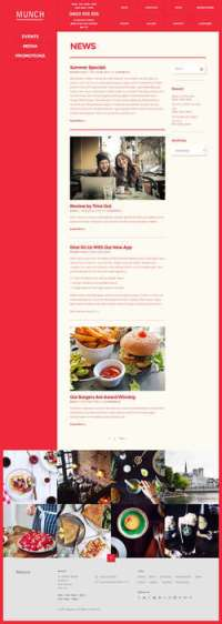 Munch - Restaurant - Business WordPress Theme