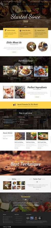 Recibo - Restaurant - Food - Cook WordPress Theme