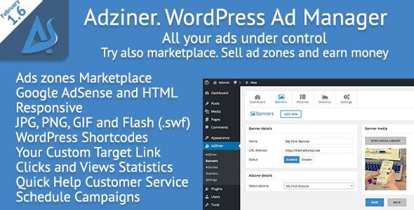 Adziner by Osinskirafal (WordPress advertising plugin)