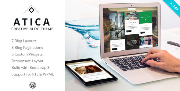 Atica by ZERGE (WordPress theme with infinite scrolling)