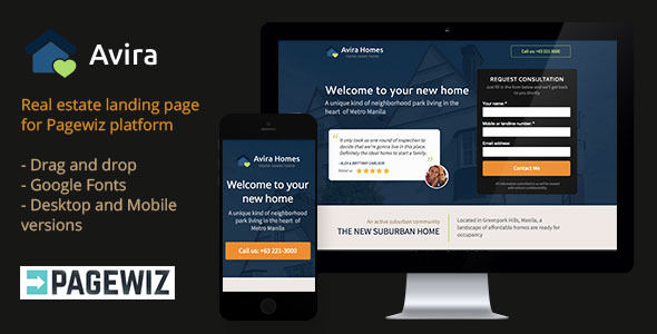 Avira by Xknothing (landing page template for PageWiz)