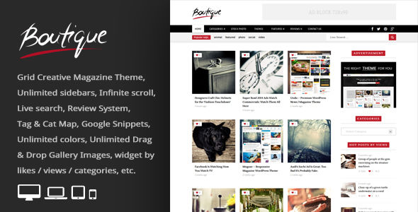 Boutique Grid by An-Themes (WordPress theme with infinite scrolling)