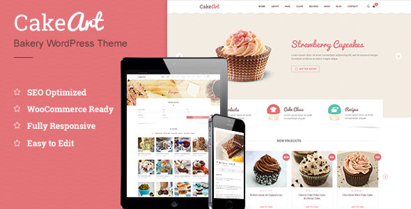 Cake WordPress Theme by ThimPress (WordPress theme for bakeries, cafes and food retail stores)