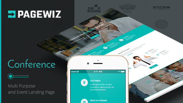 Conference by ExplicitConcepts (landing page template for PageWiz)