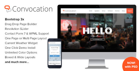 Convocation by Imithemes (event & conference WordPress theme)