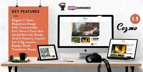 Cozmo by Wizio (magazine WordPress theme)