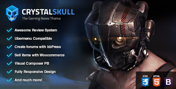 CrystalSkull by Skywarrior (magazine WordPress theme)