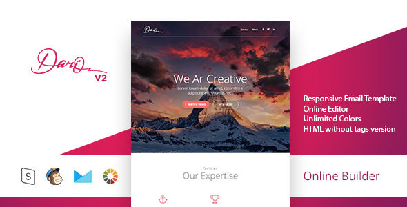 Dario by Masline (email templates for use with Mailchimp)