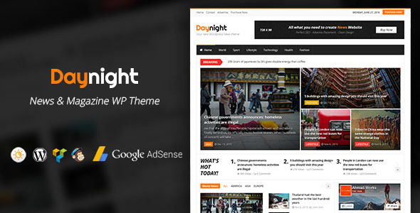 Daynight Magazine by A-Works (magazine WordPress theme)