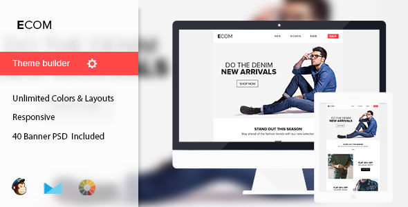 Ecom by Mail1395 (email templates for use with Mailchimp)