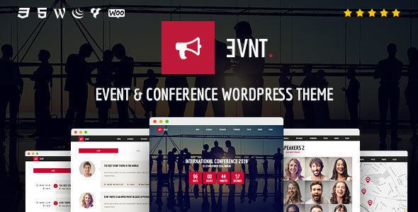 Evnt by Coffeecream (event & conference WordPress theme)