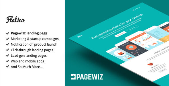 Flatico by Bogdan_09 (landing page template for PageWiz)