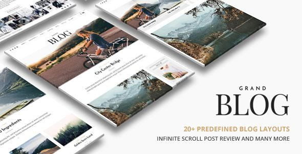 Grand Blog by ThemeGoods (magazine WordPress theme)