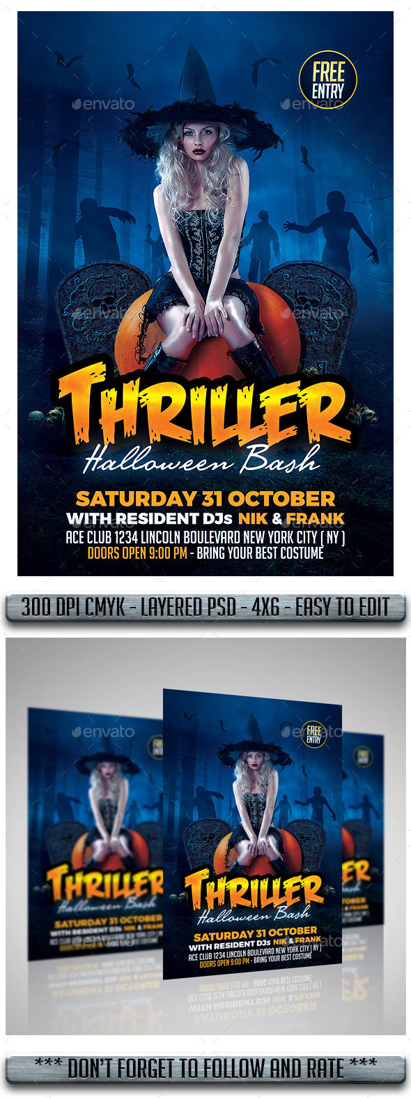 Halloween Flyer by MatteoGianfreda (Halloween party flyer)