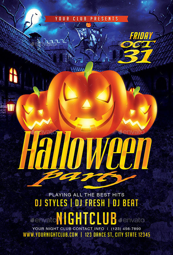 Halloween Party by DesignsByDior (Halloween party flyer)