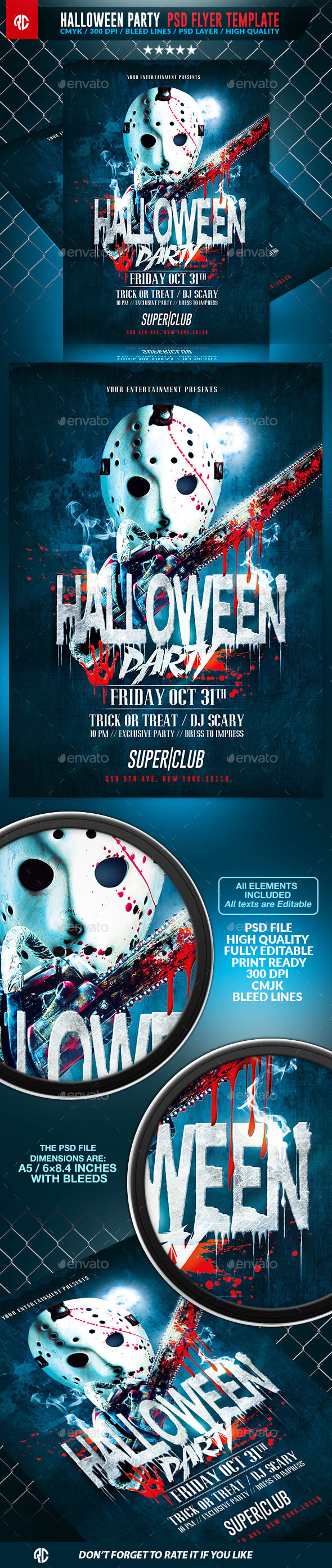 Halloween Scary Party by RomeCreation (Halloween party flyer)