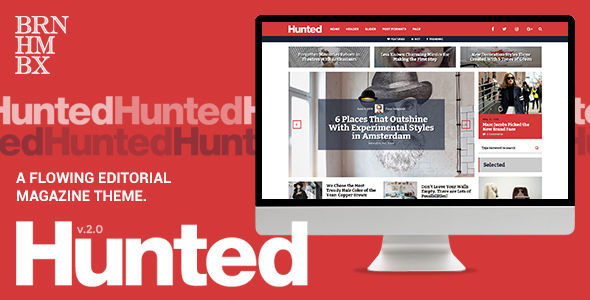 Hunted by Burnhambox (magazine WordPress theme)