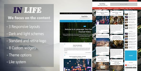 InLife by BbioonThemes (magazine WordPress theme)