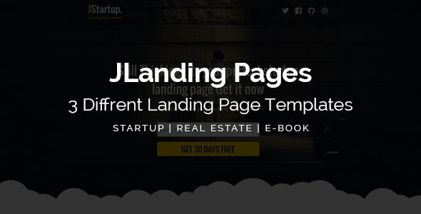 JLanding Pages by Muse-Master (landing page template for PageWiz)