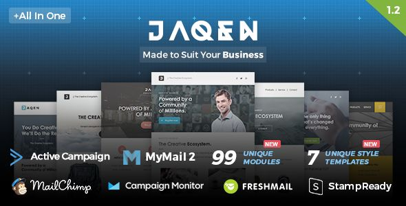 Jaqen by Nutzumi (email templates for use with Mailchimp)