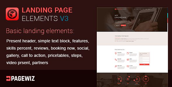 Landing Elements Vol 3 For Pagewiz by MatArt (landing page template for PageWiz)