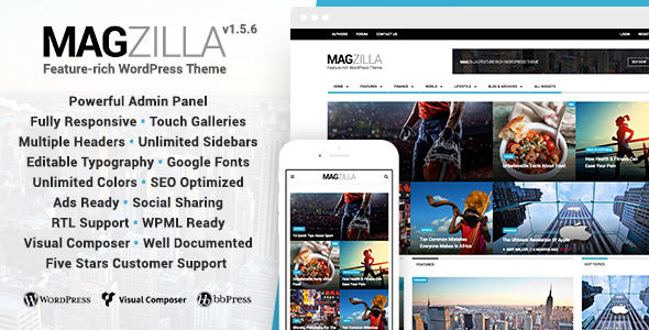 MagZilla by Favethemes (magazine WordPress theme)