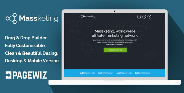 Massketing by Demustang (landing page template for PageWiz)