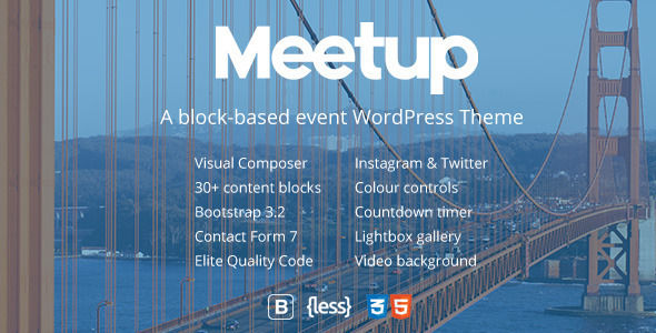 Meetup by Tommusrhodus (event & conference WordPress theme)