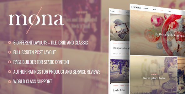 Mona by BoldThemes (magazine WordPress theme)