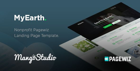 MyEarth by MangoStudio (landing page template for PageWiz)