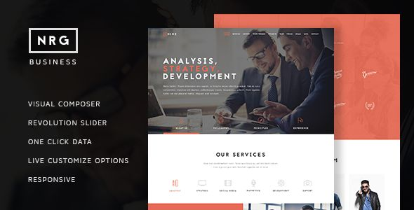 NRG Business by Themeton (multi-purpose WordPress theme)