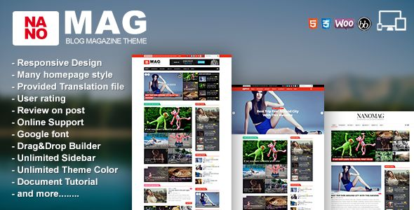 NanoMag by Jellywp (WordPress theme with infinite scrolling)