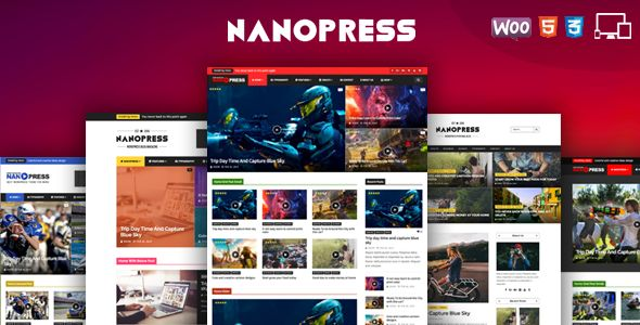 Nanopress by Jellywp (magazine WordPress theme)