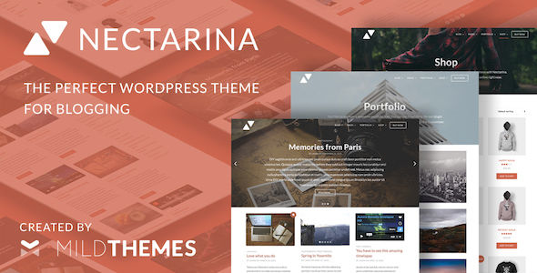 Nectarina by Mildthemes (magazine WordPress theme)