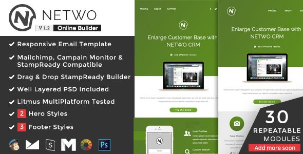 Netwo by Ux-email (email templates for use with Mailchimp)
