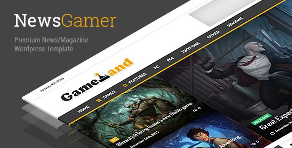 NewsGamer by Mip (magazine WordPress theme)