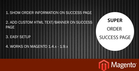Order Info On Checkout Success Page by Ravir (Magento extension)