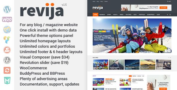 Revija by Mad_velikorodnov (magazine WordPress theme)