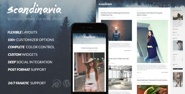 Scandinavia by Cssignitervip (magazine WordPress theme)