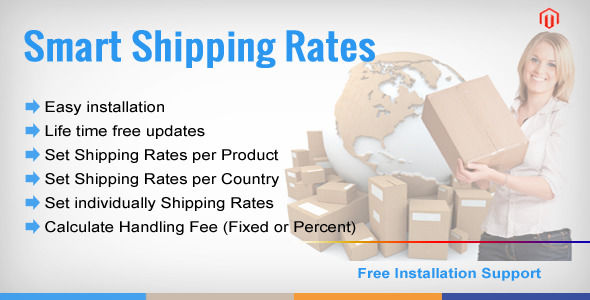 Shipping Rate Per Product by Modulemart (Magento extension)