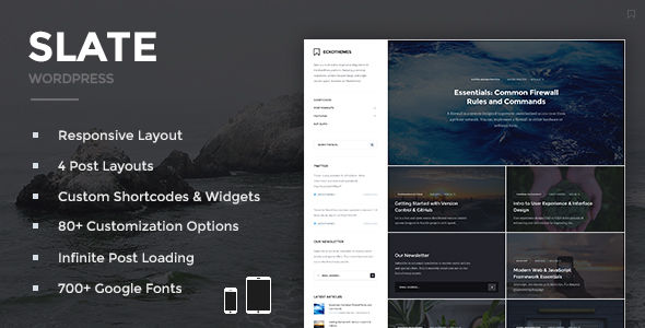 Slate by EckoThemes (magazine WordPress theme)